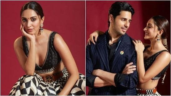 Kiara Advani in <span class='webrupee'>₹</span>79k bralette and skirt set promotes Shershaah with Sidharth Malhotra(Instagram/@kiaraaliadvani)