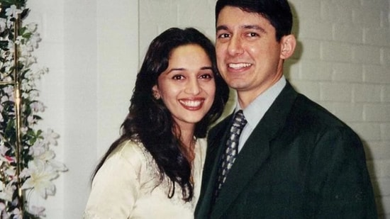 Madhuri Dixit poses with Dr Shriram Nene, in a picture from 1999.