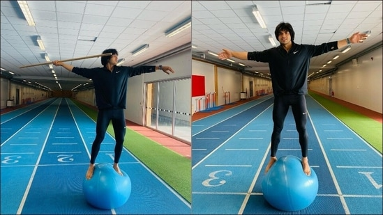 Here's why you should add Swiss ball workout to your daily fitness session like Tokyo Olympics 2020's javelin throw gold medallist Neeraj Chopra(Instagram/neeraj____chopra)