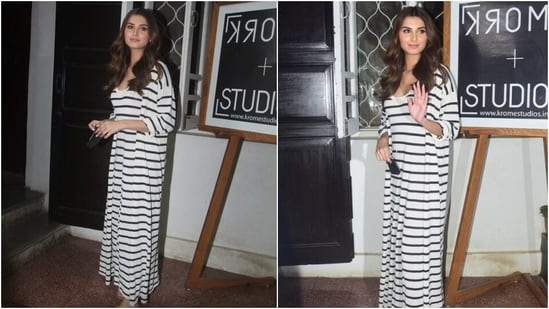 Amid the pandemic, our fashion choices have shifted more towards laidback ensembles. With the day-out look for today, Tara showed us how to glam up these ensembles effortlessly. We are taking cues.(Varinder Chawla)