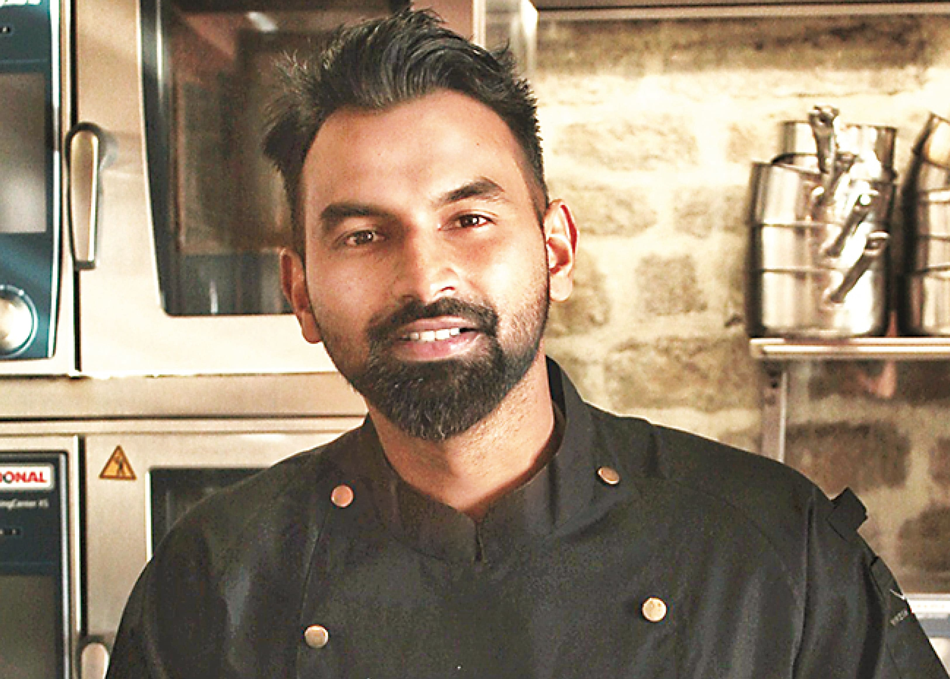 Chef Vinesh Johny explains the easier way of making a molten chocolate cake is by using ganache