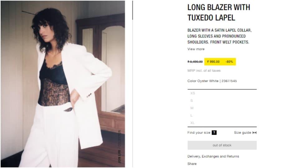 Deepika's blazer(zara.com)
