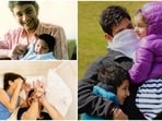 Actor Mahesh Babu often shares photos with his two kids.