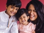 Sameera Reddy shares quirky Monday motivation video feat her kids, workout was never this fun(Instagram/@reddysameera)