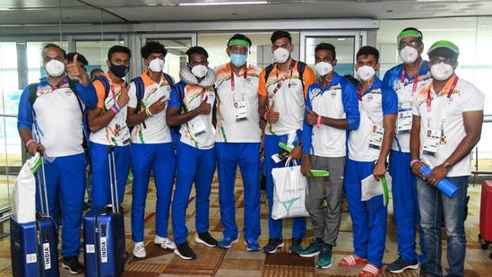Indian contingent return from Tokyo.(SAI Media/ Twitter)