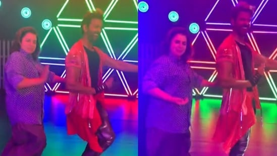 Hrithik Roshan and Farah Khan dance on Ek Pal Ka Jeena.