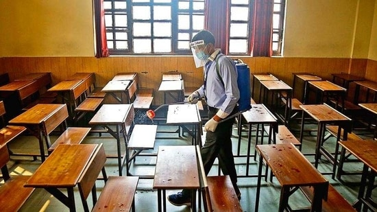 """""""Proper sanitisation of school premises including frequent sanitisation of common areas like washrooms etc shall be ensured by the head of school concerned,"""" the circular said.(File Photo)"""