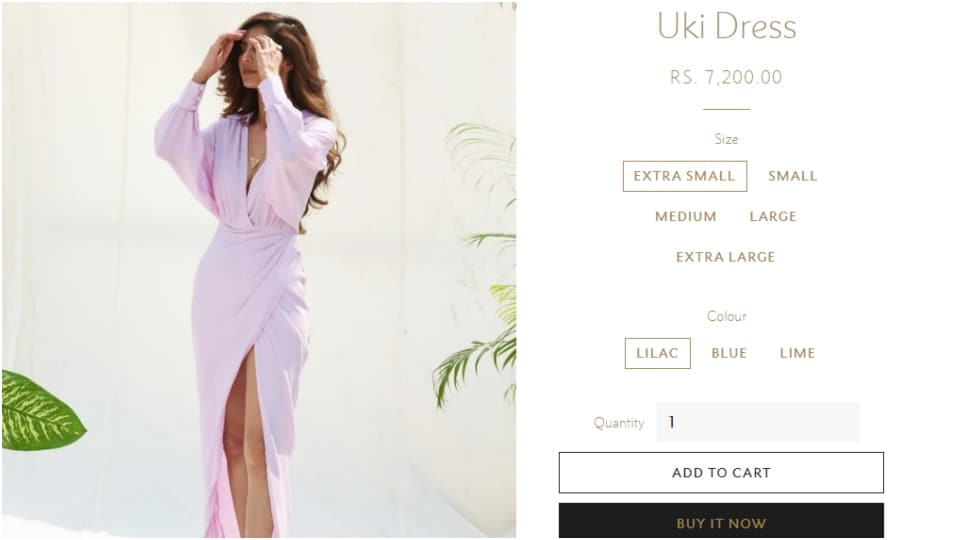 The price of the lilac dress.(since1988.in)