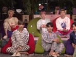 BTS members during their Zoom call with 200 ARMY.