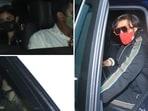 Ranveer Singh, Alia Bhatt and Ranbir Kapoor were seen outside Karan Johar's home.