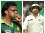 Shoaib Akhtar and Sachin Tendulkar collage.(File)