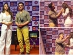 Aamir Khan and Kiara Advani on stage at the event.