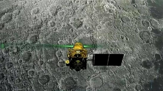 The Vikram module of Chandrayaan-2 is seen ahead of its landing on lunar surface, in September 2019. (PTI File Photo)