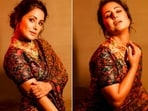 Recently, the ever so stylish Hina Khan, took to her Instagram handle to share a few pictures of herself in a vintage saree.(Instagram/@realhinakhan)