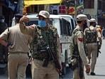 Jammu and Kashmir Police personnel in Srinagar. Representational image.(ANI)