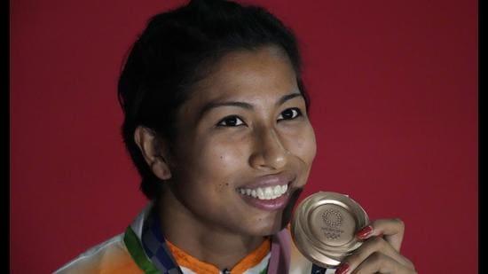Boxer Lovlina Borgohain won a bronze medal at the Tokyo Olympics. (Photo: AP)