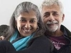 A then-and-now picture of Ratna Pathak and Naseeruddin Shah.