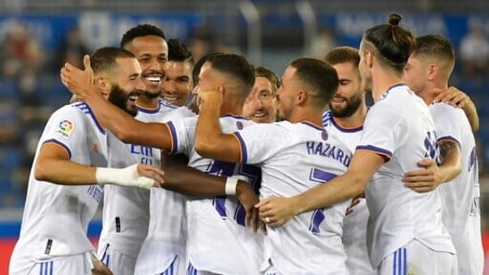 La Liga: Karim Benzema double helps Real Madrid to winning start at Alaves(AP)