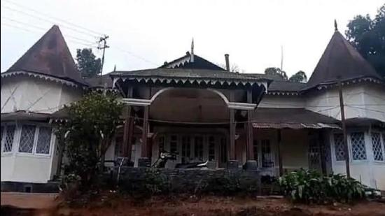 The majestic Redlands Bungalow in Shillong has been handed over to the Manipur government by Meghalaya (HT Photo)
