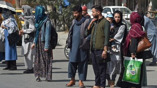 People in Kabul need not panic, the Taliban said on Sunday as the insurgent group closes in on the capital.(AFP)