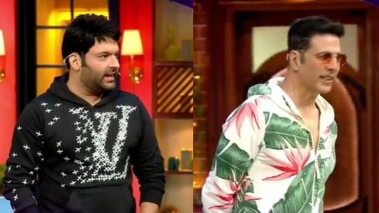 Kapil Sharma and Akshay Kumar in the promo of The Kapil Sharma Show.