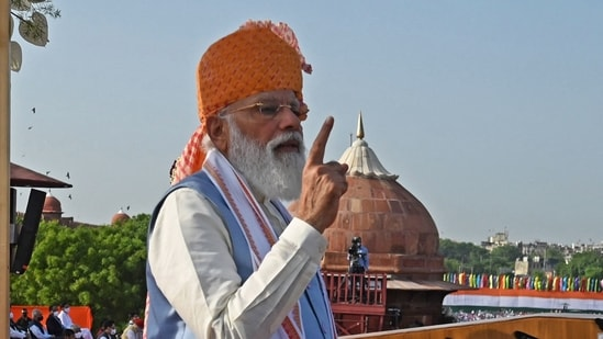 PM Modiannounced the Gatishakti plan during his address to the nation on its 75th Independence Day.(AFP Photo)