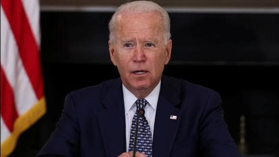 US President Joe Biden defended his decision to stick to US troops drawdown in Afghanistan despite Taliban's offensive triggering regional concerns. (REUTERS/Evelyn Hockstein)