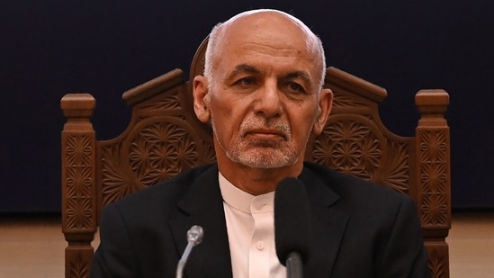 Afghanistan's President Ashraf Ghani looks on while attending a Joint Coordination and Monitoring Board meeting in Kabul.(AFP File Photo)