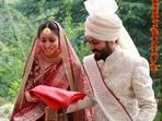 Yami Gautam and Aditya Dhar at their wedding.