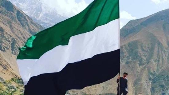 An image of the flag shared by on Twitter. (@HajiNoorUllah7)(Twitter)