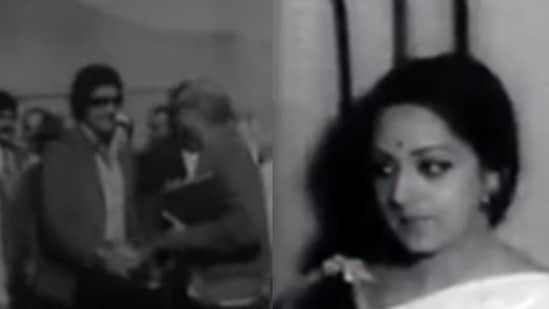 Feroz Khan and Hema Malini in a vintage video from their trip to Afghanistan.