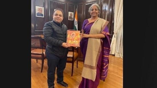 Pawan Monga with Nirmala Sitharaman