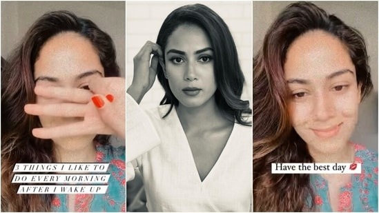 Here are three things Mira Rajput does after waking up for healthy body and mind(Instagram/@mira.kapoor)