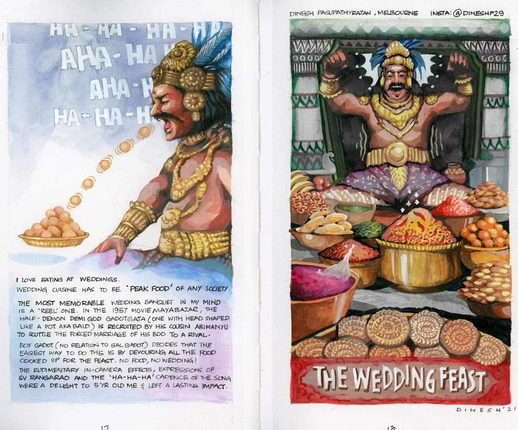 Dinesh P Rajan's most memorable food memory