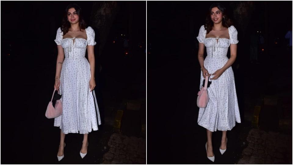 Khushi Kapoor at Rhea Kapoor and Karan Boolani's wedding party.(Varinder Chawla)