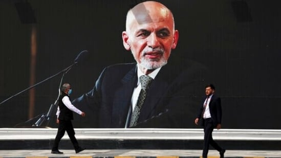 Ashraf Ghani fled Afghanistan on Sunday as the Taliban closed in on Kabul, before the Islamist insurgents walked into the Afghan capital unopposed.(AP)