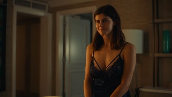The White Lotus review: Alexandra Daddario in a still from Mike White's new HBO show.