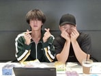 BTS members RM and Jin.