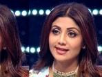 Shilpa Shetty on the sets of Super Dancer 4.