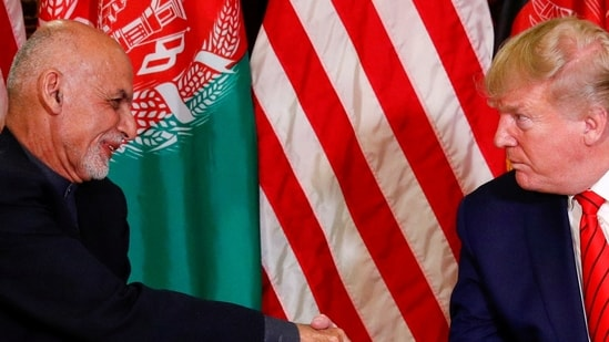 """Donald Trump, who was giving an interview to Fox News on Tuesday night, said he """"never had full confidence in Ashraf Ghani"""".(Reuters file photo)"""