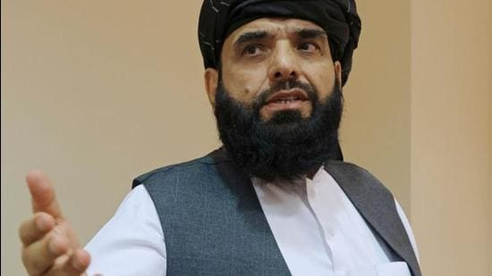 A file photo of Taliban spokesman Suhail Shaheen in Moscow, Russia July 9, 2021. (REUTERS)