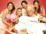 Saif Ali Khan, Kareena Kapoor, Sharmila Tagore and Saba Ali Khan at Soha Ali Khan and Kunal Kemmu's wedding.