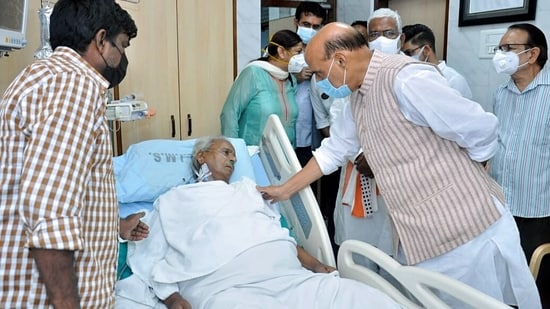 Former UP Chief Minister Kalyan Singh was admitted at RML hospital, in Lucknow.