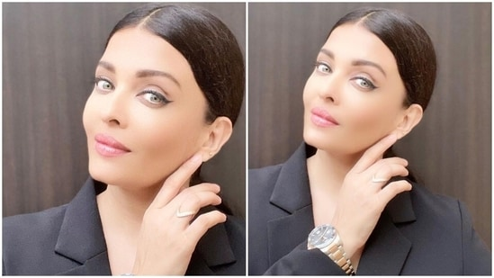 Aishwarya Rai clicked a selfie.