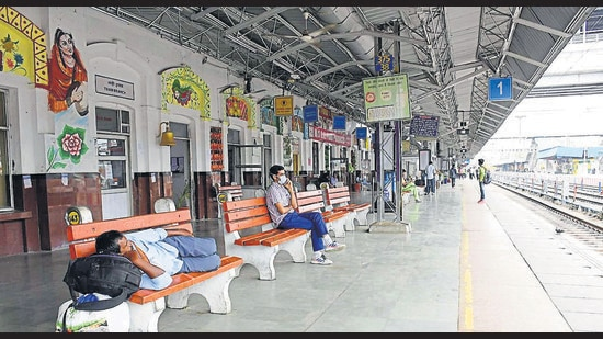 Station director Tarun Kumar said authorities were arranging seats for passengers in alternative trains the best they could in the circumstances. (Gurpreet Singh/HT)