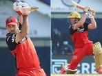 Glenn Maxwell and AB de Villiers for RCB earlier in IPL 2021. (IPL/Twitter)