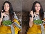 Bhagyashree encourages fans to add peas to their diet, lists their health benefits(Instagram/bhagyashree.online)