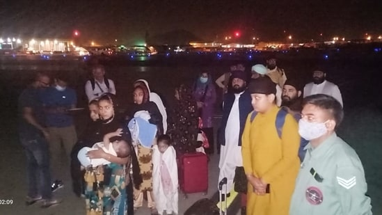 The Indians were earlier evacuated from Kabul by an IAF aircraft, according to the MEA spokesperson. (Arindam Bagchi/Twitter)