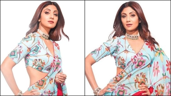 Shilpa Shetty's <span class='webrupee'>₹</span>58k sequin saree for Super Dancer 4 comeback is the perfect Rakhi look(Instagram/@theshilpashetty)
