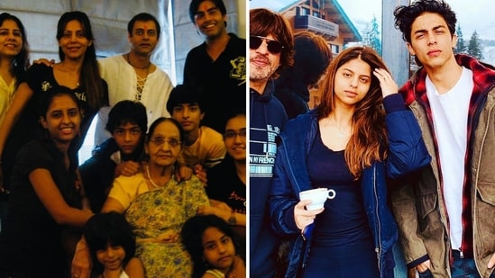 Shah Rukh Khan was missing from the throwback family photo shared online by Gauri Khan.
